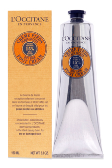 Shea Butter Foot Cream - Dry Skin by L'occitane for Unisex - 5.2 oz Foot Cream