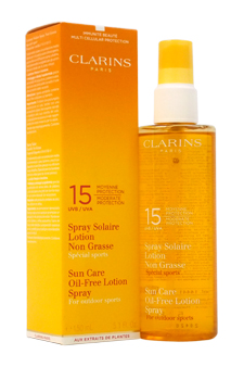 Sun Care Oil-Free Lotion Spray SPF15 Moderate Protection by Clarins for Unisex - 5.1 oz Suncare