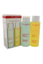 Everyday Cleansing Kit - Normal or Dry Skin by Clarins for Unisex - 2 Pc Kit 6.9oz Cleansing Milk, 6.8oz Toning Lotion
