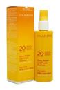 Sun Care Milk-Lotion Spray Moderate Protection UVB/UVA 20 by Clarins for Unisex - 5.3 oz Sun Care