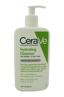 Hydrating Cleanser - Normal To Dry Skin by CeraVe for Unisex - 12 oz Cleanser