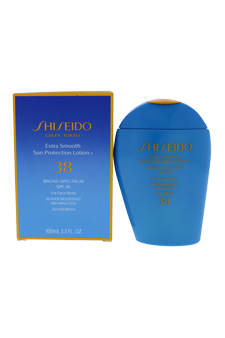 Extra Smooth Sun Protection Lotion N Broad Spectrum SPF 38 For Face/Body by Shiseido for Unisex - 3.3 oz Sunscreen