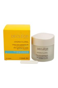 Hydra Floral 24hr Hydrating Rich Cream by Decleor for Unisex - 1.7 oz Cream
