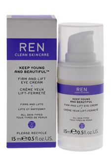 Keep Young and Beautiful Firm and Lift Eye Cream by REN for Unisex - 0.5 oz Eye Cream