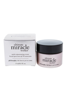 Ultimate Miracle Worker Multi-Rejuvenating Cream Broad Spectrum SPF30 by Philosophy for Unisex - 0.5 oz Sunscreen
