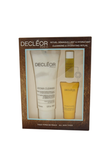 Cleansing & Hydrating Ritual Kit by Decleor for Unisex - 3 Pc Kit 3.3oz Aroma Clease, 0.16oz Aromessence Neroli Serum, 0.5oz Hydra Floral Cream