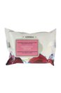 Pomegranate Cleansing & Make Up Removing Wipes by Korres for Unisex - 25 Pc Wipes