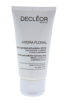 Hydra Floral Anti-Pollution Hydrating Fluid SPF30 by Decleor for Unisex - 1.7 oz Cream