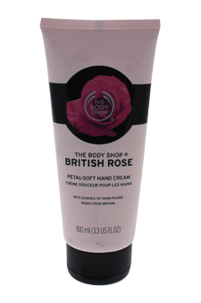 British Rose Petal Soft Hand Cream by The Body Shop for Unisex - 3.3 oz Hand Cream