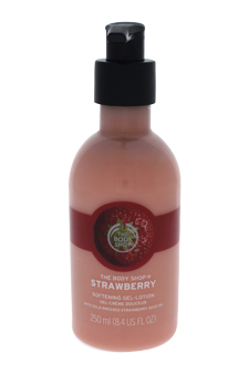 Strawberry Softening Gel Lotion by The Body Shop for Unisex - 8.4 oz Gel-Lotion
