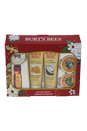 Tips and Toes Kit by Burt's Bees for Unisex - 6 Pc Kit 0.3oz Hand Salve, 0.25oz Almond & Milk Hand Cream, 0.3oz Lemon Butter Cuticle Cream, 0.75oz Coconut Foot Cream, 0.75oz Honey & Grapeseed Hand Cream, 0.15oz Pomegranate Moisturizing Lip Balm