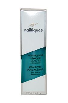 Nailtiques Non-Acetone Remover with Aloe Vera & Conditioners by Nailtiques for Women - 6 oz Manicure