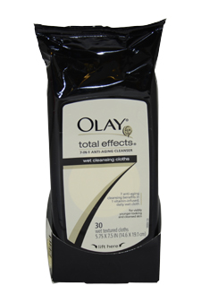 Total Effects Age Defying Wet Cleansing Cloths by Olay for Women - 30 Pc Cloths