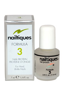 Nail Protein Formula # 3 by Nailtiques for Women - 0.25 oz Manicure