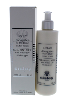 Cleansing Milk with White Lily - Dry Sensitive Skin by Sisley for Women - 8.4 oz Cleansing Milk
