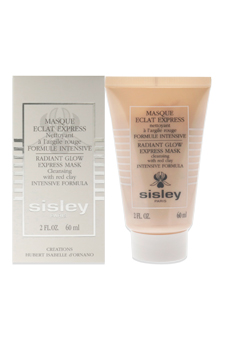 Radiant Glow Express Mask with Red Clay Intensive Formula for Women Cleanser