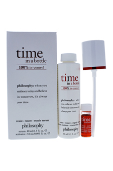 Time In a Bottle Daily Age-Defying Serum by Philosophy for Women - 2 Pc 1.3oz Serum, 2.8ml High-Potency Vitamin C Activador