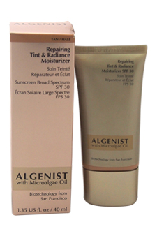 Repairing Tint & Radiance Moisturizer Sunscreen Broad Spectrum SPF 30 - Tan by Algenist for Women - 1.35 oz Moisturizer (Unboxed)