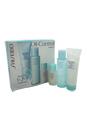 Pureness Kit by Shiseido for Women - 3 Pc Kit 2.7oz Deep Cleansing Foam, 3.3oz Balancing Softener, 1oz Matifying Moisturizer