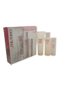 The Skincare Moisturizing Kit by Shiseido for Women - 3 Pc Kit 2.8oz Extra Gentle Cleansing Foam, 3.3oz Hydro Nourishing Softener Lotion, 1oz Day Moisture Protection SPF 18 Sunscreen