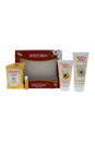 Burt's Bees Face Essentials Set by Burt's Bees for Women - 4 Pc Set 6oz Soap Bark & Chamomile Deep Cleansing Cream, 4oz Peach & willow Bark Deep Pore Scrub, 10 Pc Facial Cleansing Toweletts with White Tea Extract, 0.15oz Coconut & Pear Moisturizing Lip Balm