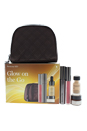 Glow on the Go by Perricone MD for Women - 5 Pc Set 0.3oz No Foundation Foundation Serum, 0.28oz No Mascara Mascara, 0.11oz No Lipgloss Lipgloss,0.25oz Hypoallergenic Firning Eye Cream, Travel Pouch