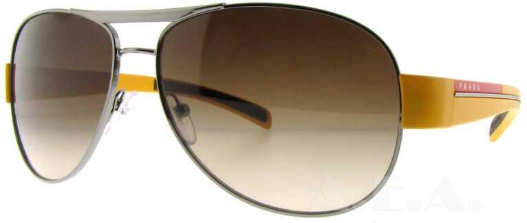 c08678e36e4d5 Sps 51l 5av-6s1 Gun Metal yellow By Prada For Unisex – 59-14-140 Mm  Sunglasses