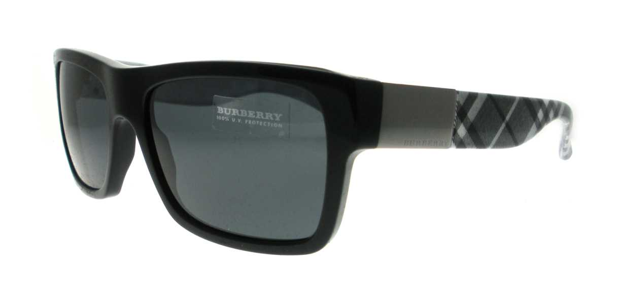 burberry mens sunglasses dpd5  UPC 713132313213 product image for BE 4065 316987 Black by Burberry for Men