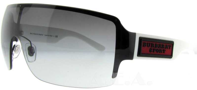 9caa9b01595 UPC 713132322154 product image for BE 3046 100111 Black   White by Burberry  for Men -