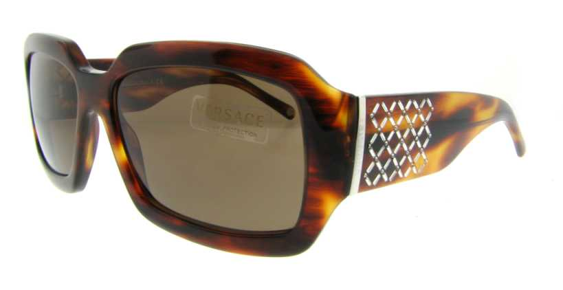 VE 4147B 163/73 Havana by Versace for Women - 58-15-135mm Sunglasses