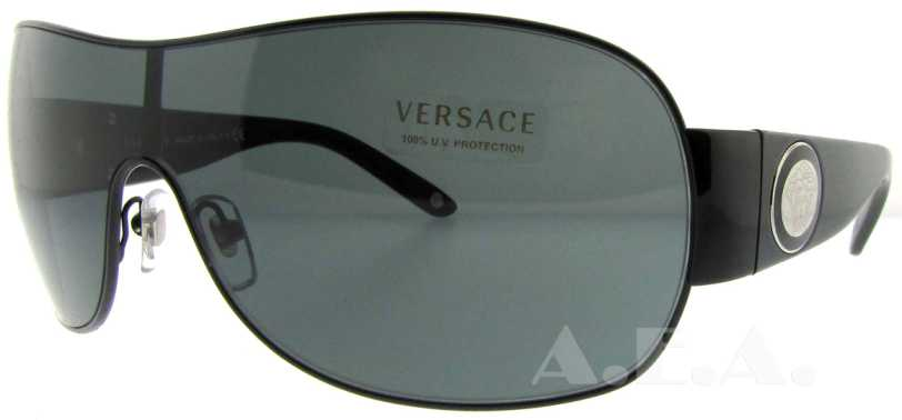 6883e1213fd VE2101 Sunglasses - 1009 87 Black (Gray Gradient Lens) - 136mm