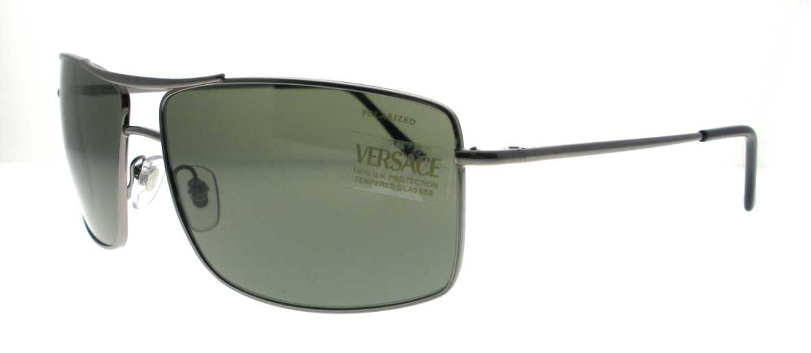 VE 2104 101558 Gunmetal by Versace for Men - 61-0-135 mm Sunglasses