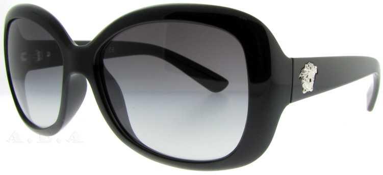 81189393017 Versace Authentic 4187 GB111 SHINY BLACK Designer Women Sunglasses