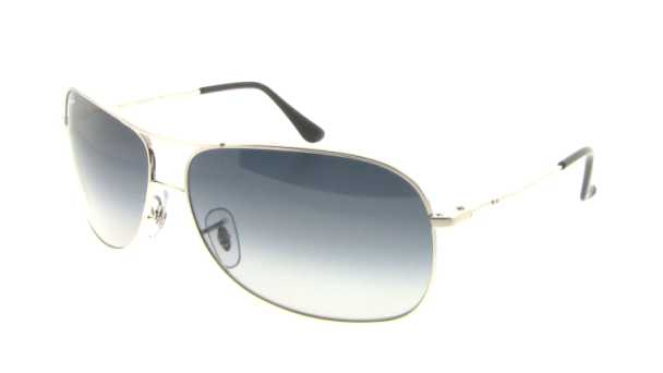545e96b6c1be Ray Ban RB3267 Sunglasses - 003/8G Silver (Gray Gradient Lens) - 64mm