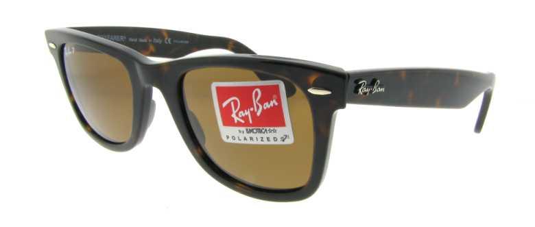 d3c7a2c583 Ray Ban Wayfarer Polarized Sunglasses RB 2140 902-57 50mm