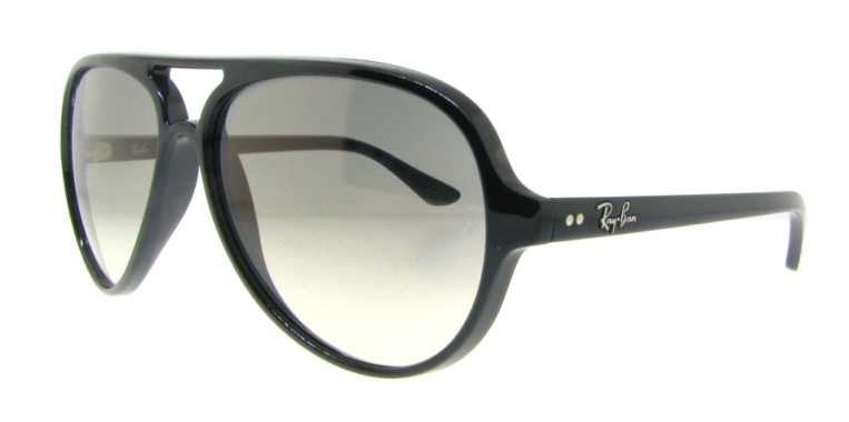 RB 4125 601/32 Shiny Black by Ray Ban for Unisex - 59-13-140mm Sunglasses
