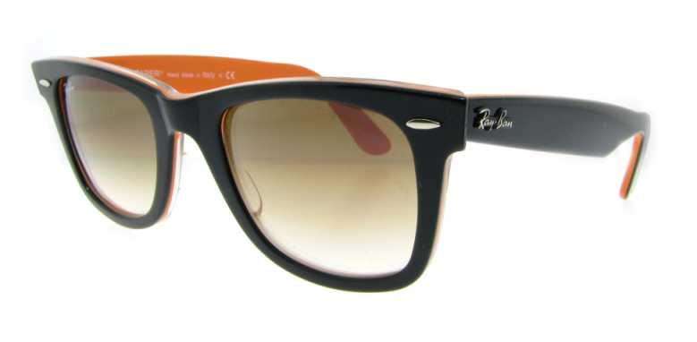 RB 2140 100251 Blk/Oran by Ray Ban for Unisex - 50-22-150mm Sunglasses