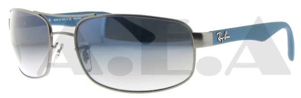 RB 3445 029/78 Gun Metal W/ Grey Gradient Polarized Lens by Ray Ban for Unisex - 61-17-130 mm Sunglasses