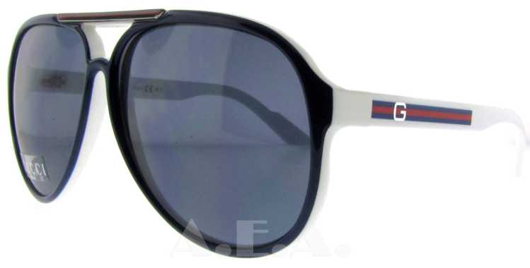 GG 1627/S IPG Blue/White by Gucci for Unisex - 59-12-130 mm Sunglasses