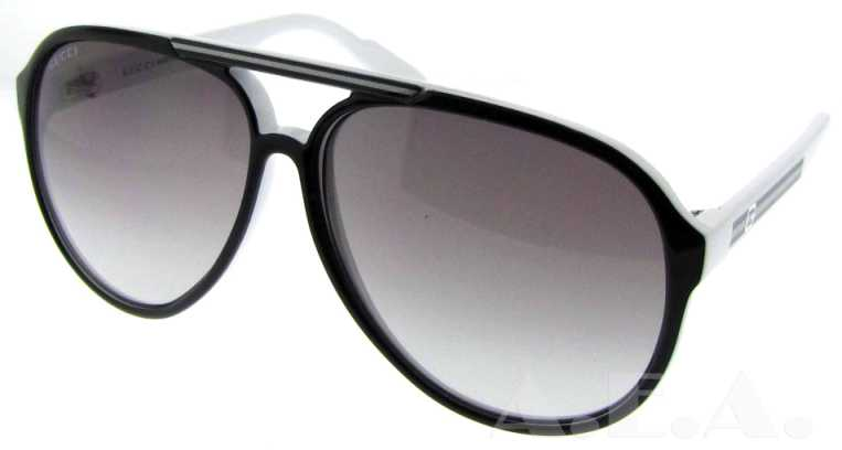 GG 1627/S IPI Black/White by Gucci for Unisex - 59-12-130 mm Sunglasses