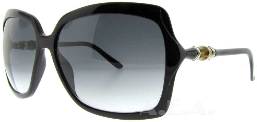 Gucci Sunglasses Bamboo Frame  gucci black bamboo detail womens sunglasses gg 3131 s d28 jj