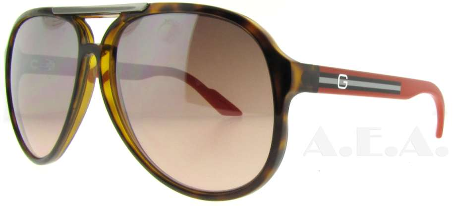 GG 1627/S Q22 Havana/Orange by Gucci for Unisex - 59-12-130 mm Sunglasses