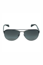 Prada PR 51Q GAQ2D0 - Matte Black/Gunmetal by Prada for Men - 59-16-140 mm Sunglasses