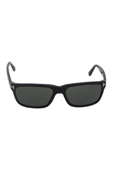 Tom Ford TF 337 Hugh 01N - Black/Green Polarized by Tom Ford for Men - 55-16-140 mm Sunglasses