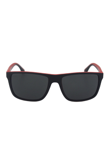 Emporio Armani EA 4033 5324/87 - Black/Red Rubber by Emporio Armani for Men - 56-17-140 mm Sunglasses