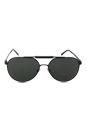 Versace VE 2155 1261/71 - Matte Black/Grey Green by Versace for Men - 59-15-140 mm Sunglasses