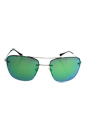 Prada SPS 52R 1BC-1M0 - Silver/Green by Prada for Men - 56-16-135 mm Sunglasses