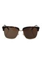Burberry BE 4154-Q 3002/73 - Dark Havana/Gold Brown by Burberry for Men - 55-17-140 mm Sunglasses