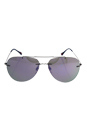 Prada SPS 50P 5AV-2E2 - Gunmetal/Blue by Prada for Men - 60-13-140 mm Sunglasses