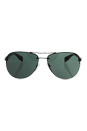 Prada SPS 56M 7AX-3O1 - Black/Gray Green by Prada for Men - 65-14-130 mm Sunglasses